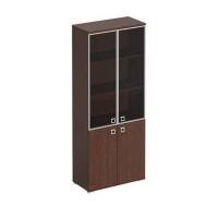 КС 306 Шкаф для документов со стеклянными тонированными дверьми в рамке