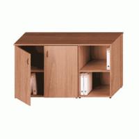 Исп.05 Шкаф комбинированный низкий (закрытый + стеллаж узкий)