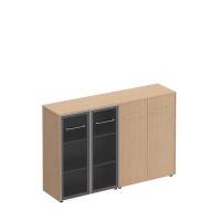 МЕ 322 Шкаф комбинированный средний (стекло + закрытый)