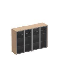 МЕ 323 Шкаф комбинированный средний (стекло + стекло)