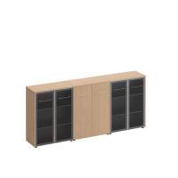 МЕ 339 Шкаф комбинированный средний (стекло + закрытый + стекло)