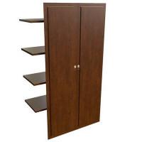29552 Наполнение двустворчатого шкафа с деревянными дверьми и вешалкой